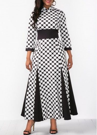 Printed Band Waist Three Quarter Sleeve Dress on sale only US$36.79 now, buy cheap Printed Band Waist Three Quarter Sleeve Dress at liligal.com