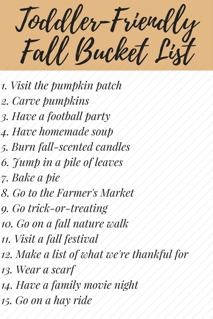 Need some fun ideas for things you can do with your toddler or preschooler this fall? This fall bucket list is exactly what you need!