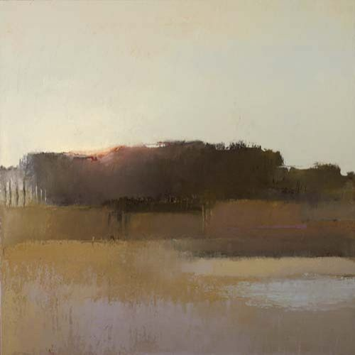 Muted colors set the perfect scene for the evening calm, and for the beauty of the last glimpse of sunlight. ~ Artist, Irma Cerese