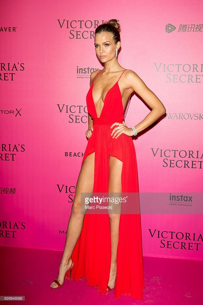 Josephine Skriver attends '2016 Victoria's Secret Fashion Show' after show photocall at Le Grand Palais on November 30, 2016 in Paris, France.