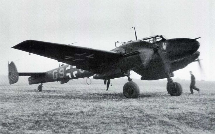 Bf.110C-4.№:G9+BC (W.Nr.3475) Deelen (Pays-Bas), May 1941.