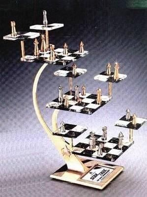 Official Star Trek The Next Generation 3D Tridimensional Chess Set TNG