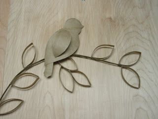 Toilet Paper Roll Wall Art | When I finished, I very carefully (this thing is quite large) carried ...