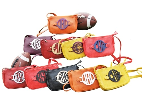 The Zoey Crossbody in Gameday colors ...tailgating attire!  www.gratefulbags.com