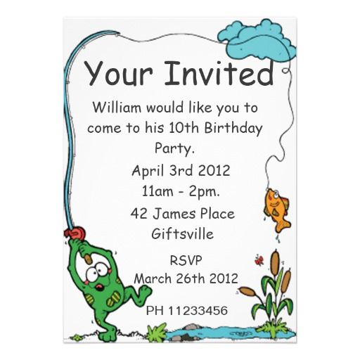 19 best Fishing Birthday Party Invitations images on Pinterest