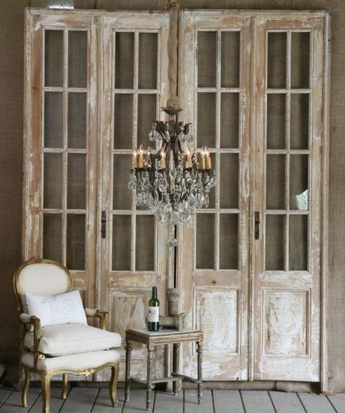 bereketdecor: Vintage doors -- lots of awesome ideas for repurposing beautifully.