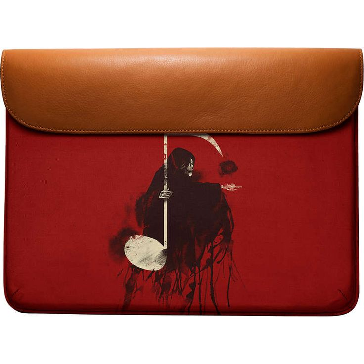 """Funky Death Note Real Leather #laptopSleeve For MacBook Pro 13"""" Designed by Tobe Fonseca . Best for Art & design lovers. Carry it to college or office as a document holder or laptop bag and leave a good impression on your friends."""
