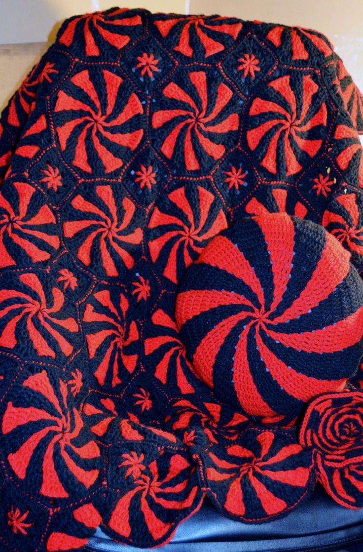 76 besten AFGHAN OCTAGON SQUARES Bilder auf Pinterest | Crochet ...
