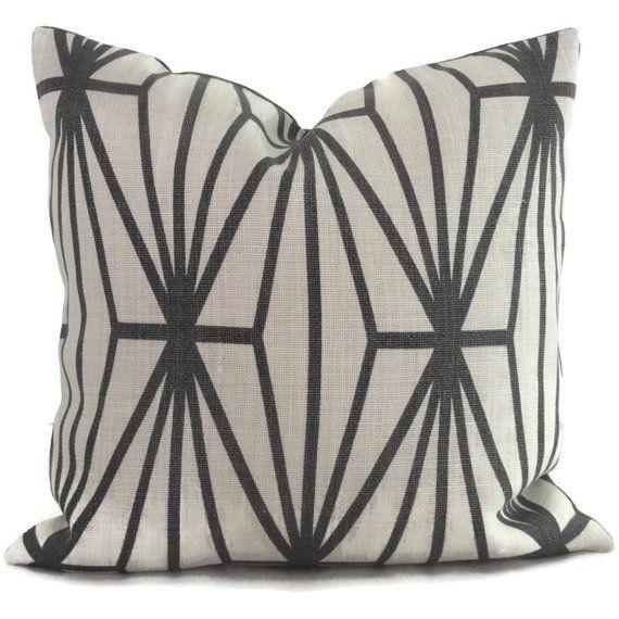 Lee Jofa Groundworks Katana Trellis Pillow Cover Square Euro Etsy Trellis Pillow Pillows Throw Pillows