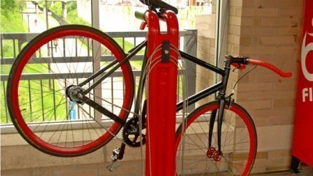 The Public Work Stand is a repair stand built for the needs of the urban landscape. Like all bike repair products, the Public Work Stand is ... #bikerepairstand #bikerepairkit