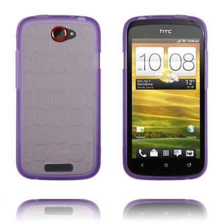 Gjennomsiktig Bakdel (Lilla) HTC One S Deksel