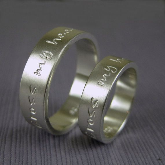 Custom wedding band ring set in sterling silver by TwoSilverMoons, $110.00