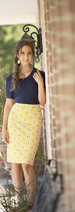 Geoprint skirt - Mustard - Omika