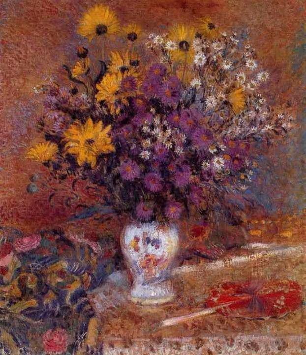 "artist-lemmen: ""Vase of Flowers, Georges Lemmen Medium: oil on canvas"""