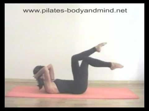 Pilates esercizi per gli addominali - YouTube