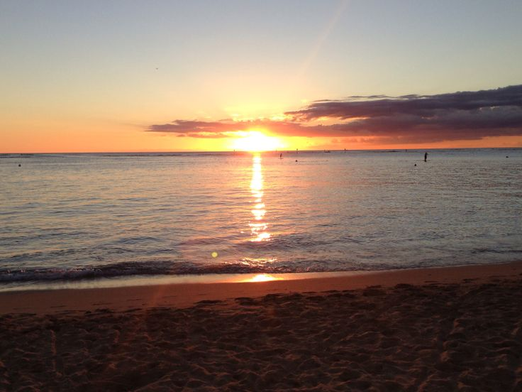 Sunset Waikiki beach ❤️