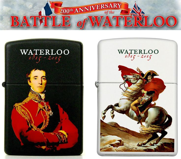Waterloo 200th anniversary custom Zippos