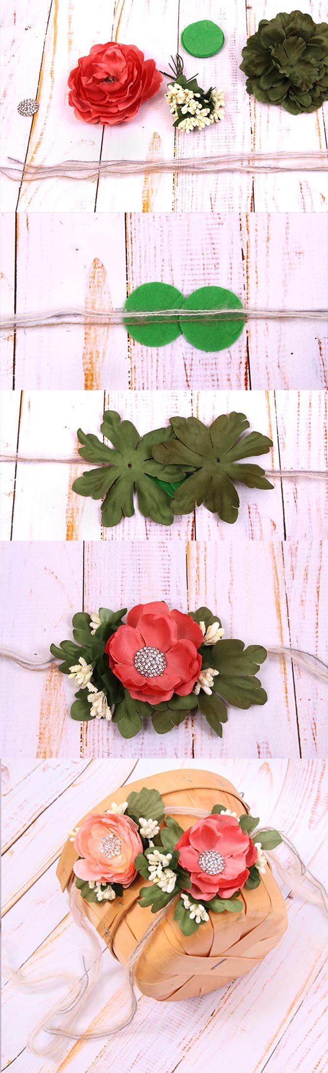 fabric flower baby headband tutorial