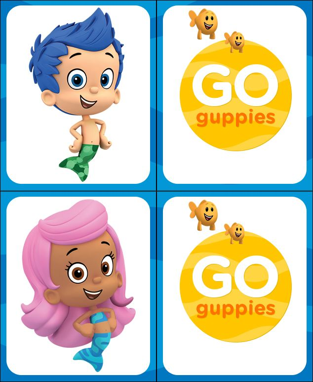 Bubble guppies go fish game just print cut play for Bubble guppies fish