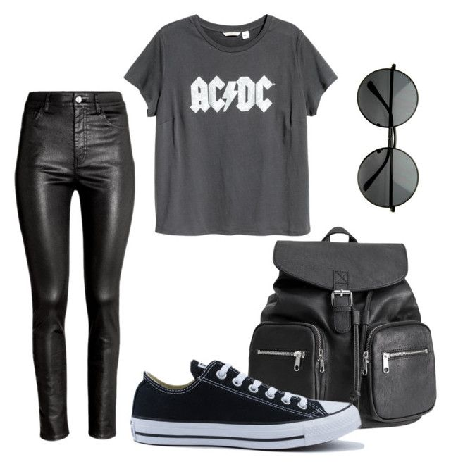 """// back to school // #1"" by bloginprogresss on Polyvore featuring H&M and Converse"