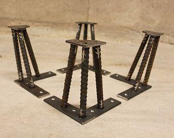 Metal mesa patas 16 Set de 4 patas 1/2 por nakedMETALstudio