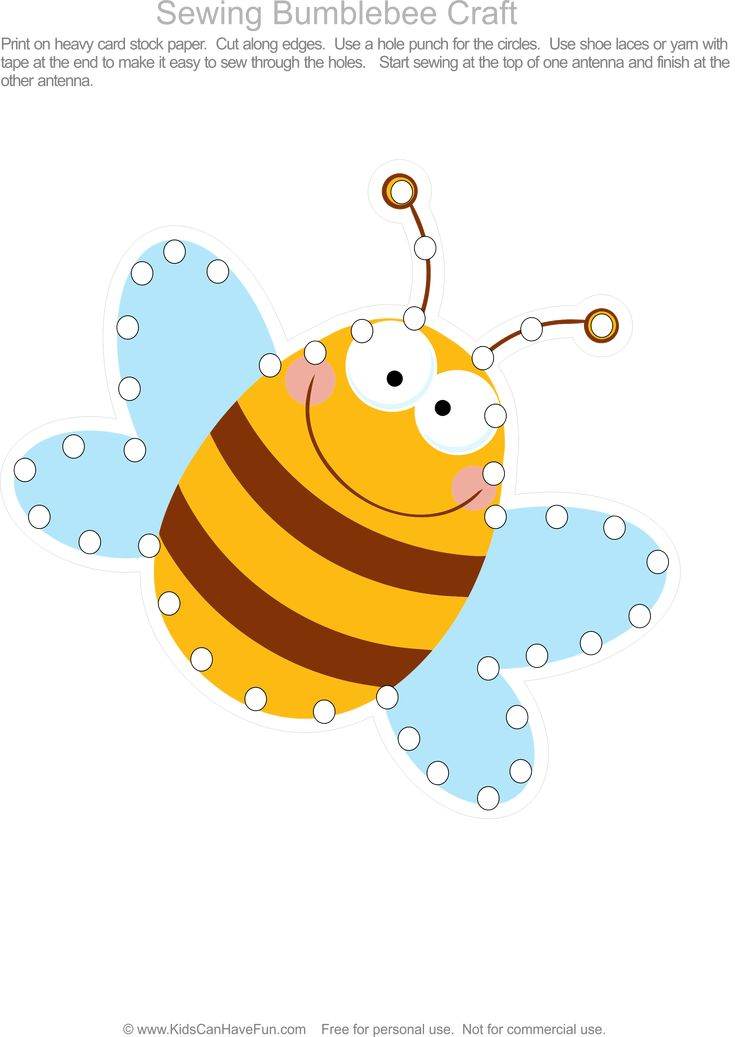 Sewing bumblebee craft