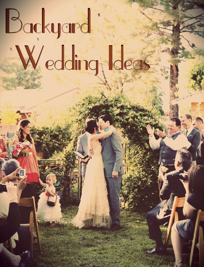 Tips for a backyard wedding! Love this pin and the backyard weddings at the bottom are amazing!! :):)
