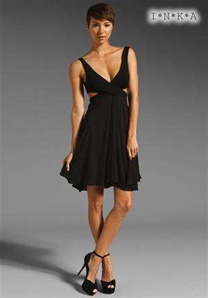 INKA  Dámské šaty středně dlouhé černé