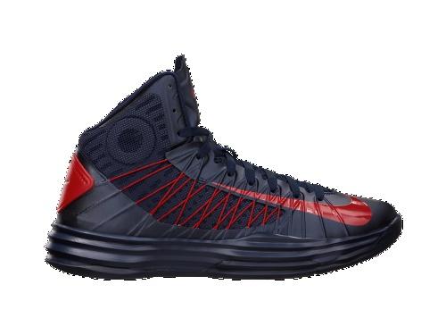 Nike Men's Hyperdunk Basketball Shoe Obsidian/University Red Size 11