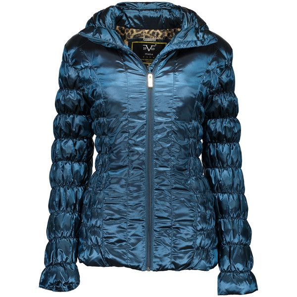 Versace 19.69 Abbigliamento Sportivo SRL Moroccan Ruched Puffer Coat ($50) ❤ liked on Polyvore featuring plus size women's fashion, plus size clothing, plus size outerwear, plus size coats, plus size, feather coat, blue puffer coat, plus size puffer coat, evening coat and puffer coat