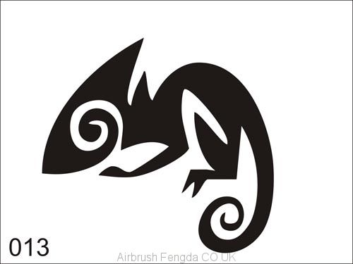 Airbrush tattoo stencil V013