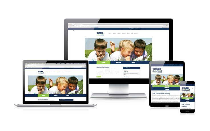 SML Christian Academy's extensive rebranding project was completed with a beautiful, easy to navigate, responsive website. #responsiveweb #onlinemarketing #webdesign