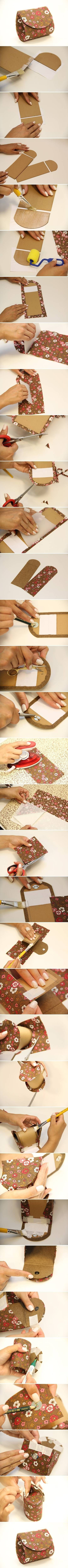 DIY Money Pouch crafts craft ideas easy crafts diy ideas. Use cereal boxes, milk boxes etc.
