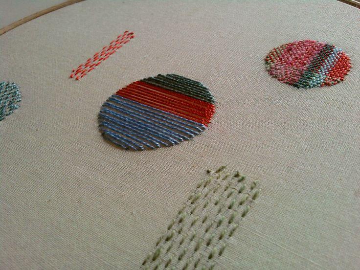My teaching samples for the Repair & Disrepair workshop at Harewood House last weekend.