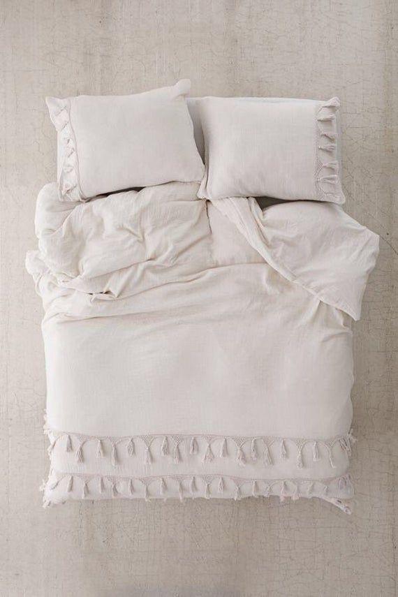 Handmade Tassels Duvet Cover Boho Bedding Cotton Exclusive Etsy In 2021 Gray Duvet Cover Duvet Covers Duvet Covers Urban Outfitters
