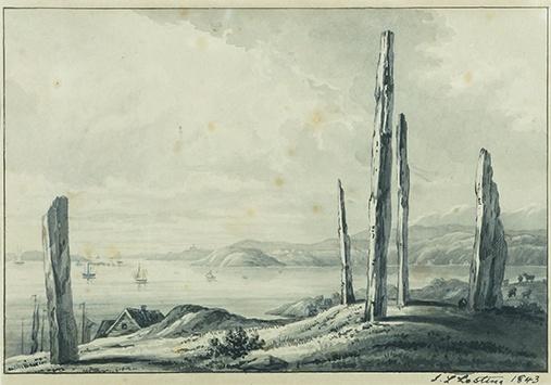 """""""De fem dårlige jomfruer"""", malt i 1843."""