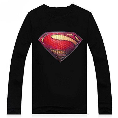 YiTeng Mens Fashion Superman 3D Print Short Sleeve T-Shirts @ niftywarehouse.com