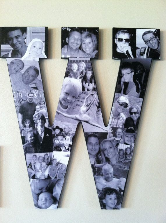 Custom Collage Photo Letters by picketfencecrafts on Etsy, $50.00
