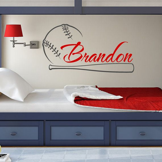 Hey, I found this really awesome Etsy listing at https://www.etsy.com/listing/254480709/baseball-name-wall-decal-boy-baseball