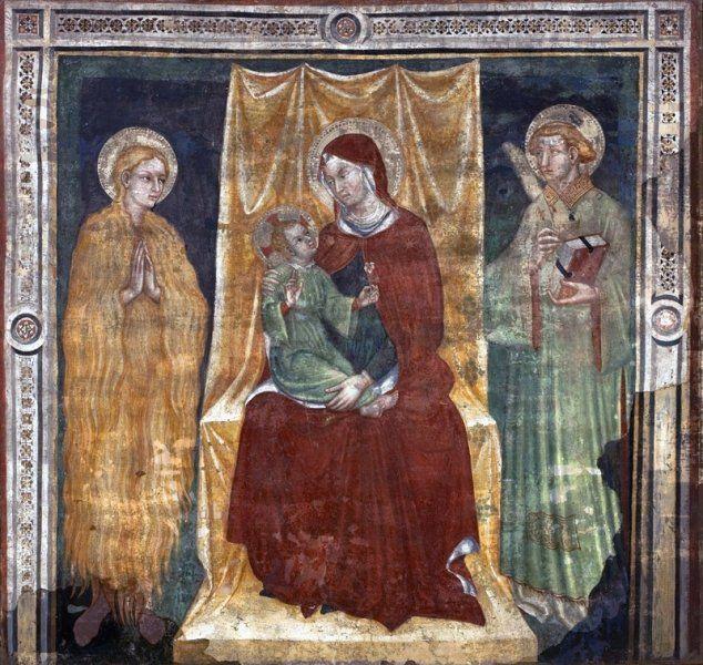 Ottaviano Nelli  - Madonna con Bambino e Santi - affresco staccato - 1400-1410 - Museu de Arte, São Paulo