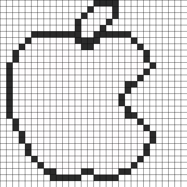apple logo perler bead pattern    bead sprite