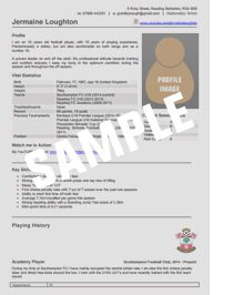 Download your Football CV Template + free 38 page eBook: How to Write a Stand Out Football CV.   With free cover letter templates and professional advice.