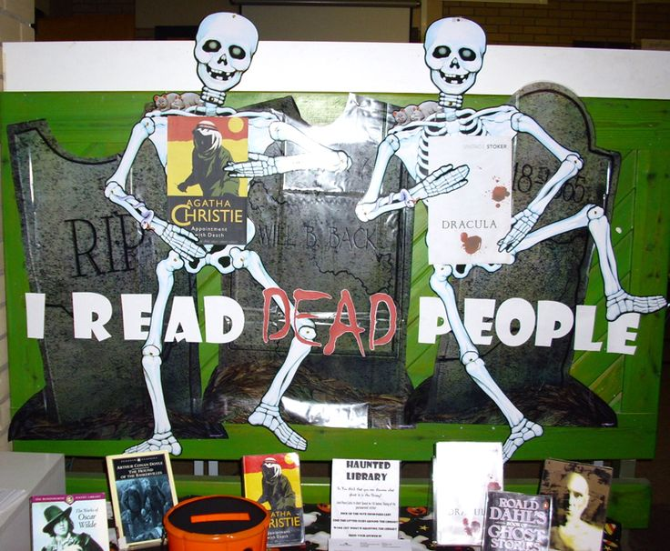 I Read Dead People. Now THAT's an eye-grabbing paraphrase, even without the skeletons!