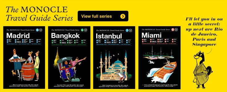 Promotional image for The Monocle Travel Guide Series