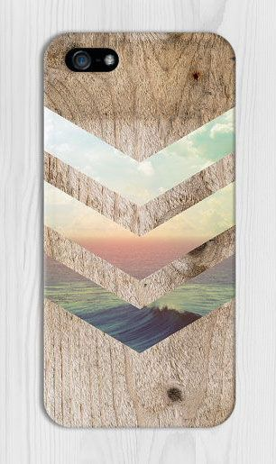 California Skies x Ocean Wood Design Phone Case for iPhone 6 6 Plus iPhone 5 5s 5c 4 4s Samsung Galaxy s6 s5 s4 & s3 and Note 5 4 3 2