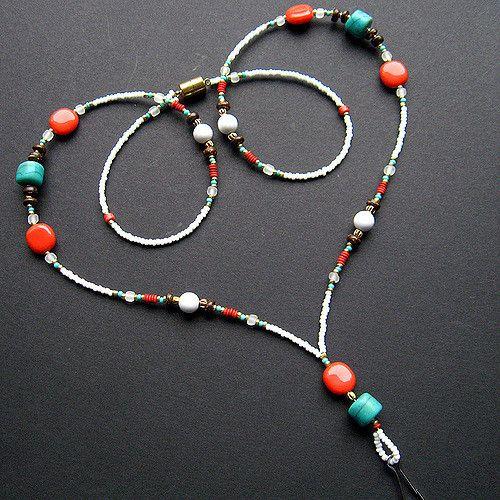 Handmade Beaded Lanyard - Native Inspiration   Turquoise sto…   Flickr