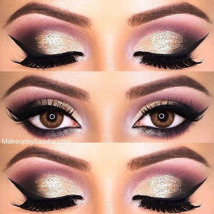 "Gorgeous Eyes ❤️ @salehabeauty lashes in ""DOLL HOUSE"" & ""DATE NIGHT"" stacked! Arabian Nights Eyeliner launching this month www.salehabeauty.com #salehabeauty"