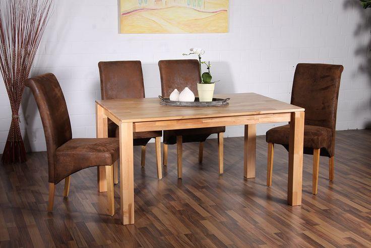 Dieser praktische und zeitlose Esstisch ist aus FSC®-zertifizierter Kernbuche und eignet sich hervorragend für die Küche oder das Esszimmer. Die lackierte Oberfläche bietet für das hochwertige Möbel einen optimalen Schutz und sieht zugleich edel aus. Der Tisch ist aus Massivholz mit einer leicht überstehender Platte an der Längsseite designt. Er ist ein perfekter Treffpunkt für das Beisammensei...