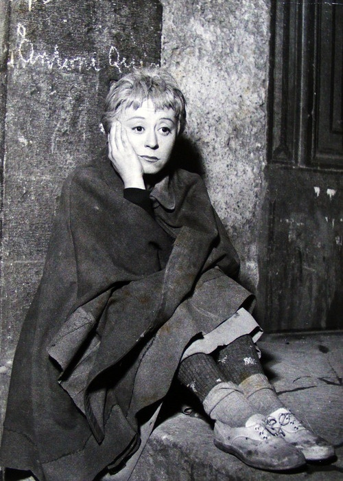 "Giulietta Masina, from Fellini's La Strada, 1954 ""I'm no use to anybody, there . . . I'm fed up with living"""