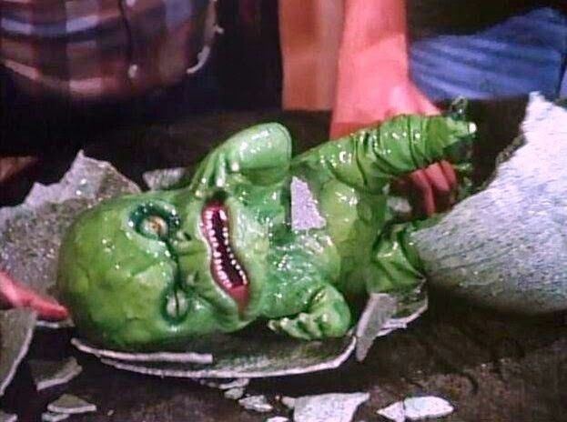 Alien baby  | V the Mini Series | Cult movies, Little dragon